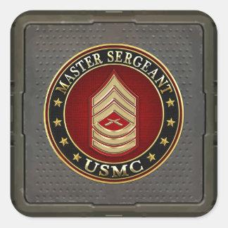 U.S. Marines: Master Sergeant (USMC MSgt) [3D] Square Sticker