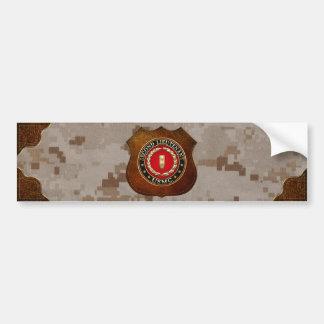U.S. Marines: Second Lieutenant (USMC 2ndLt) [3D] Bumper Sticker