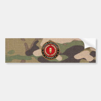 U.S. Marines: Second Lieutenant (USMC 2ndLt) [3D] Bumper Sticker