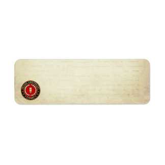 U.S. Marines: Second Lieutenant (USMC 2ndLt) [3D] Return Address Label