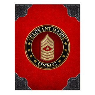 U.S. Marines: Sergeant Major (USMC SgtMaj) [3D] Postcard