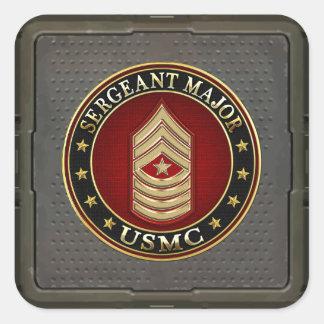 U.S. Marines: Sergeant Major (USMC SgtMaj) [3D] Square Sticker