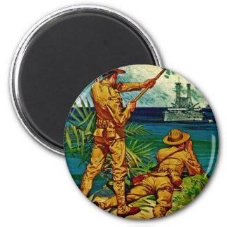 U.S. Marines ~ Signal Flag 6 Cm Round Magnet