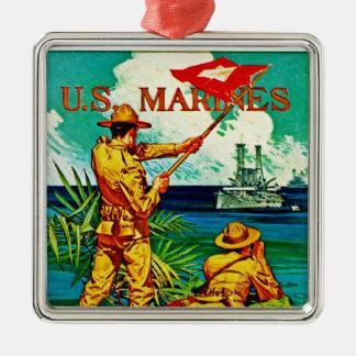 U S Marines Signal Flag Christmas Tree Ornaments