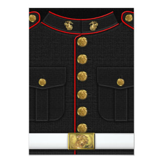 U.S. Marines: USMC Dress Uniform [3D] 13 Cm X 18 Cm Invitation Card