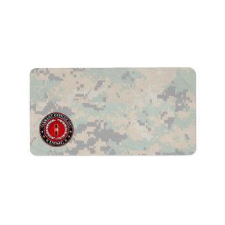 U.S. Marines: Warrant Officer One (USMC WO-1) [3D] Address Label