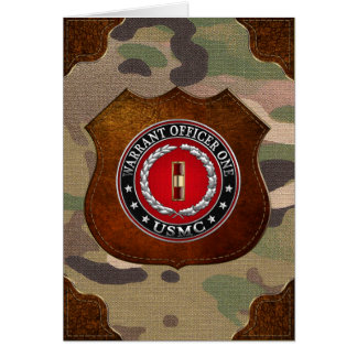 U.S. Marines: Warrant Officer One (USMC WO-1) [3D] Card