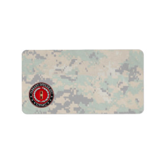 U.S. Marines: Warrant Officer One (USMC WO-1) [3D] Label