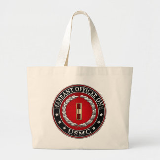 U.S. Marines: Warrant Officer One (USMC WO-1) [3D] Large Tote Bag