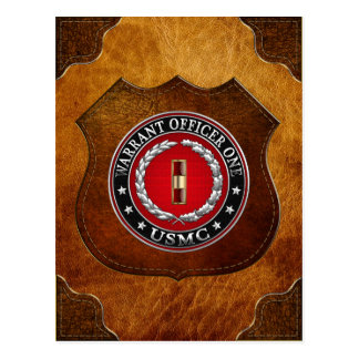 U.S. Marines: Warrant Officer One (USMC WO-1) [3D] Postcard