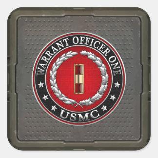 U.S. Marines: Warrant Officer One (USMC WO-1) [3D] Square Sticker