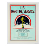 U.S. Maritime Service (US02055) Posters