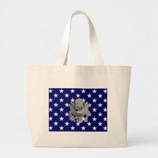 u.s. military insignia canvas bag