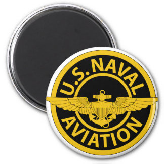 U.S. Naval Aviation - 2 6 Cm Round Magnet