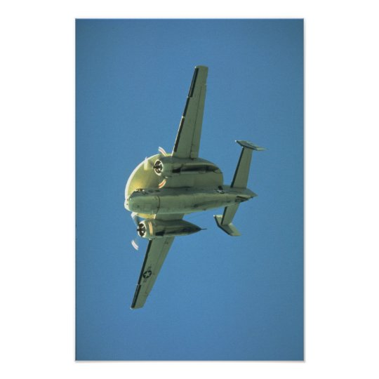 U.S. Navy anti-submarine warfare radar aircraft Poster
