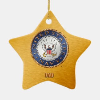 U.S. Navy Dad Ceramic Ornament