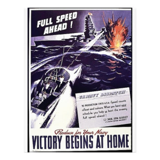 U.S.Navy Dispatch, Victory Begins At Home Full Color Flyer