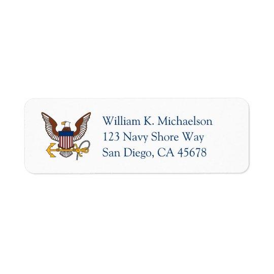 U.S. Navy | Eagle Emblem Return Address Label