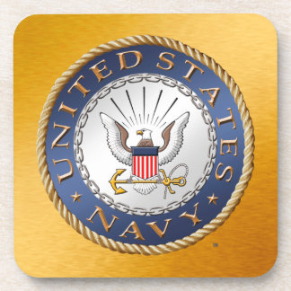 U.S. Navy Hard plastic coaster