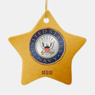 U.S. Navy Mom Ceramic Ornament