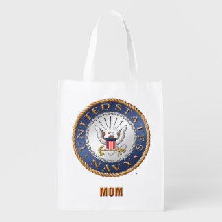 U.S. Navy Mom Grocery Bag