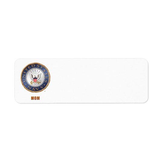 U.S. Navy Mum Address Label
