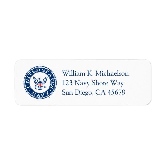 U.S. Navy | Navy Alt Emblem Return Address Label