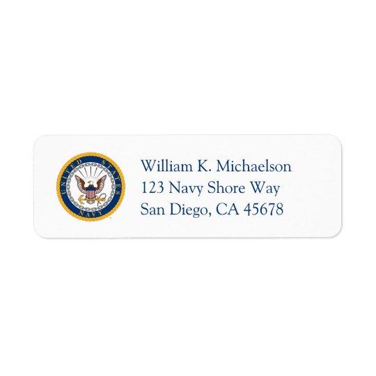 U.S. Navy | Navy Emblem Return Address Label