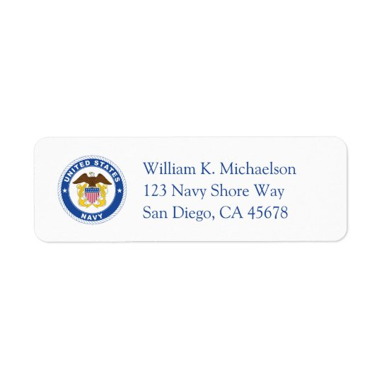 U.S. Navy | Officer Crest Return Address Label