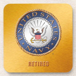 U.S. Navy Retired Hard plastic coaster