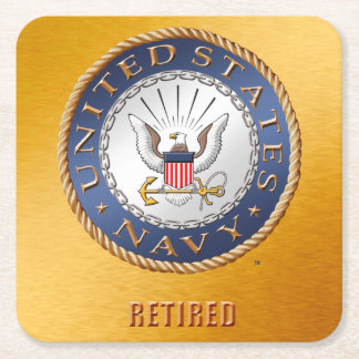 U.S. Navy Retired Paper Coaster