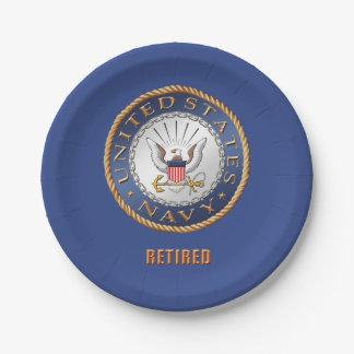 U.S. Navy Retired Paper Plate