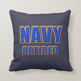 """U.S. Navy Retired Polyester Throw Pillow 16"""" x 16"""""""