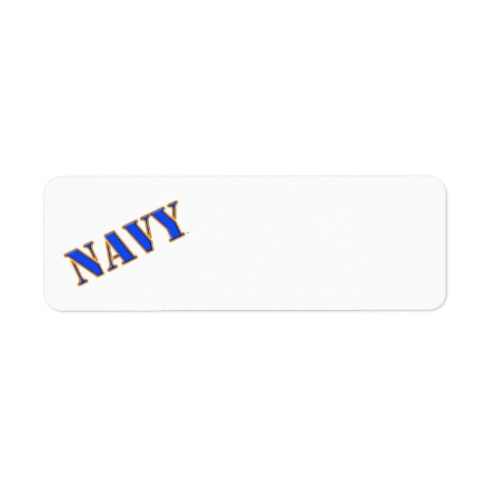 U.S. Navy Return Address Label