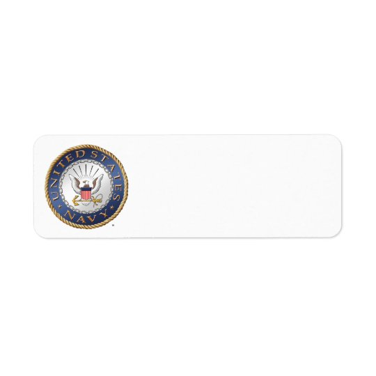 U.S. Navy Return Address Label