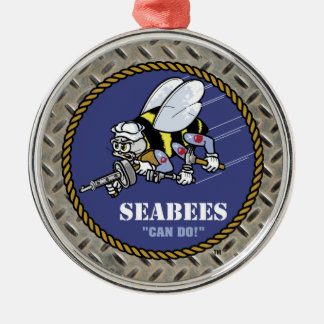 U.S. Navy | Seabees Silver-Colored Round Decoration