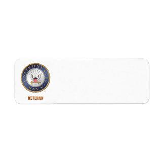 U.S. Navy Veteran Address Label