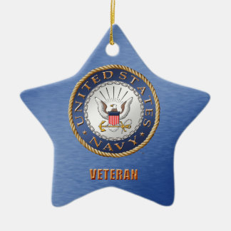 U.S. Navy Veteran Ceramic Ornament