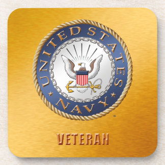 U.S. Navy Veteran Hard plastic coaster