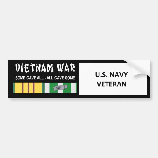 U.S. NAVY VIETNAM WAR VETERAN BUMPER STICKER