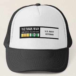 U.S. NAVY VIETNAM WAR VETERAN TRUCKER HAT