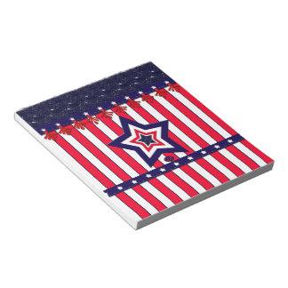 U.S. Patriotic Celebration of National Holidays Notepads