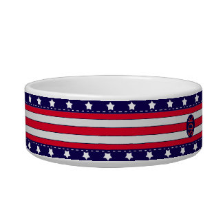 U.S. Patriotic Celebration of National Holidays Pet Bowls