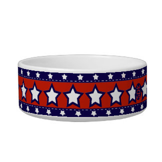 U.S. Patriotic Celebration of National Holidays Pet Water Bowl