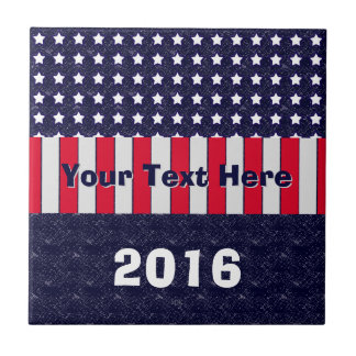 U.S. Patriotic Celebration of National Holidays Small Square Tile