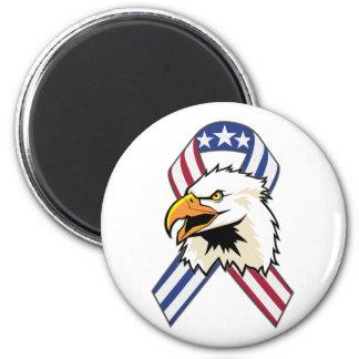 U.S. Patriotic Eagle Flag 6 Cm Round Magnet