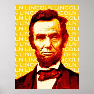 U.S. President Abraham Lincoln Portrait Poster