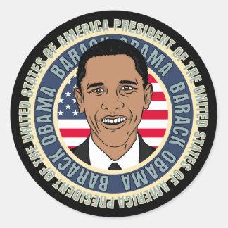 U.S. President Barack Obama Round Sticker