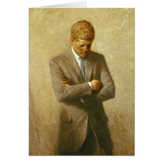 U S President John F Kennedy by Aaron Shikler Greeting Cards