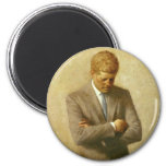 U.S. President John F. Kennedy by Aaron Shikler 6 Cm Round Magnet